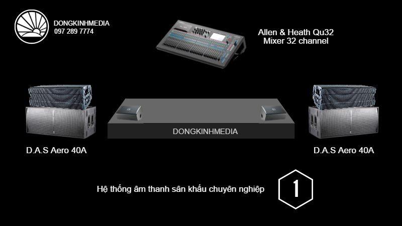 Hệ thống âm thanh Sân Khấu chuyên nghiệp 1