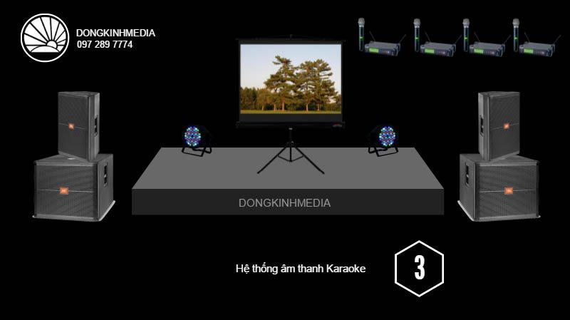 Gói âm thanh, ánh sáng Karaoke trung bình
