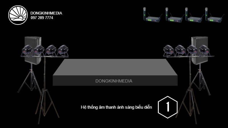 Hệ thống thiết bị âm thanh, ánh sáng Biểu Diễn cơ bản 1