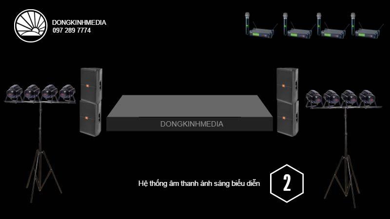 Hệ thống thiết bị âm thanh, ánh sáng Biểu Diễn cơ bản 2