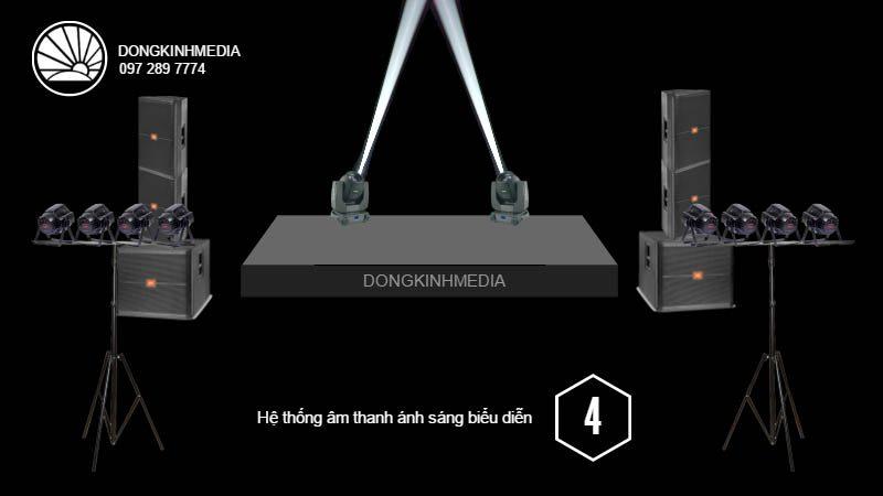 Hệ thống thiết bị âm thanh, ánh sáng Biểu Diễn trung bình 1