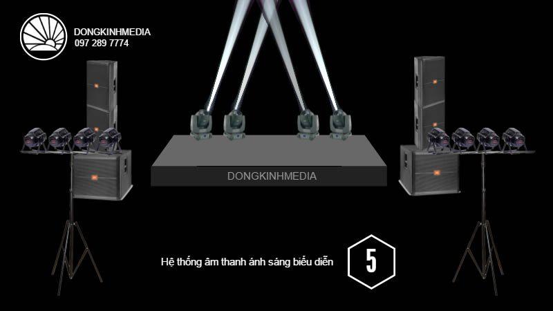 Hệ thống thiết bị âm thanh, ánh sáng Biểu Diễn trung bình 2