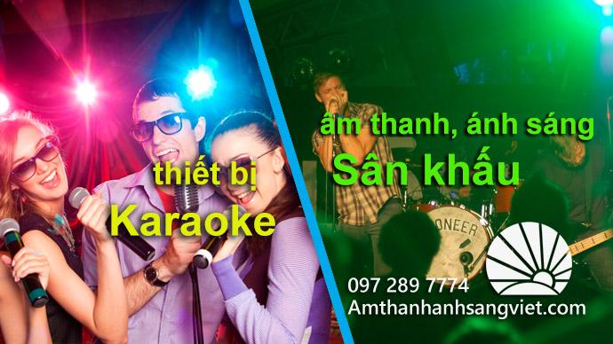 Sự kết hợp giữa âm thanh ánh sáng Sân khấu và Thiết bị Karaoke