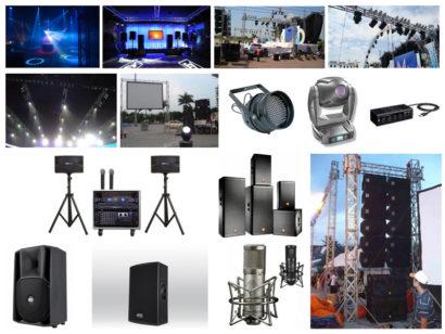 thiết bị âm thanh ánh sáng